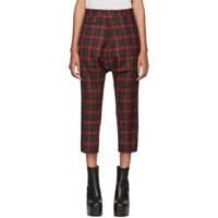 R 13 R13 Red Tailored Drop Trousers