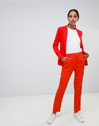 Liquorish Slim Leg Trousers Red