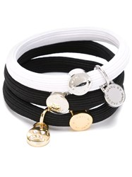 Marc By Marc Jacobs Logo Plaque Hair Ties Black