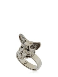 Mg Trends Silver And Crystal Welsh Corgi Ring