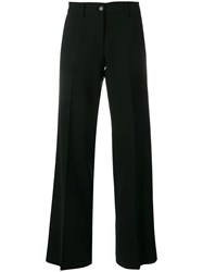 Aspesi Pleated Straight Leg Trousers Black