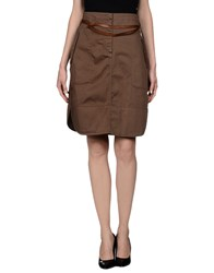 Henry Cotton's Skirts Knee Length Skirts Women Dark Brown