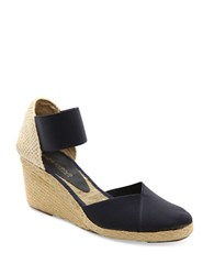 Andre Assous Anouka Espadrille Wedge Sandals Navy Blue