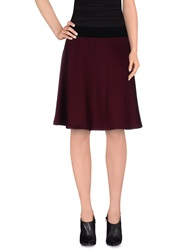 Hope Collection Knee Length Skirts Maroon