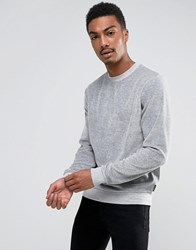 D Struct Velour Crew Neck Sweatshirt Grey
