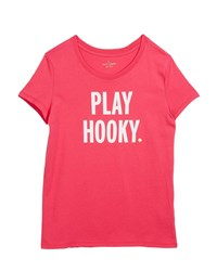 Kate Spade Play Hooky Graphic Tee Size 7 14 Pink