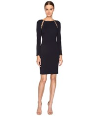 Versace Jersey Dress Midnight Blue