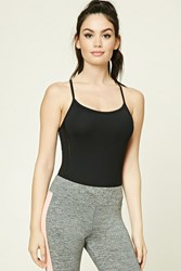 Forever 21 Active Strappy Bodysuit Black
