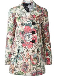 Faith Connexion Floral Print Double Breasted Coat Multicolour