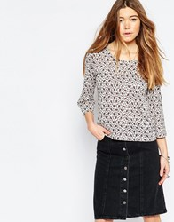 Only Long Sleeve Aztec Print Blouse White