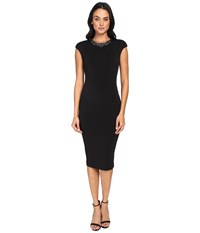 Ted Baker Dardee Embellished Bodycon Dress Black Women's Dress