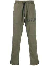Iceberg Cargo Panelled Trousers Green