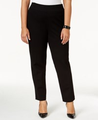 Kasper Plus Size Ponte Straight Leg Pants