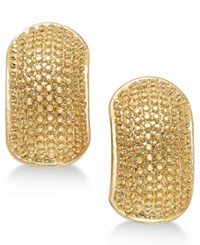 Erwin Pearl Atelier For Charter Club Gold Tone Textured Huggie Earrings Only At Macy's
