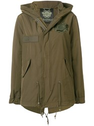 Mr And Mrs Italy Cropped Parka Jacket Green