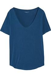 Majestic Stretch Jersey T Shirt Blue