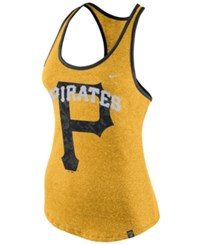 Nike Women's Pittsburgh Pirates Marled Racer Tank Gold