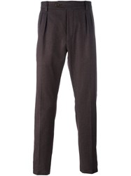 Al Duca D'aosta 1902 Tapered Pleat Detail Trousers Pink Purple