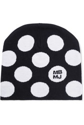 Marc By Marc Jacobs Charlie Polka Dot Wool Beanie Black