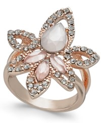 Inc International Concepts I.N.C. Rose Gold Tone Multi Stone Statement Ring Created For Macy's Pink