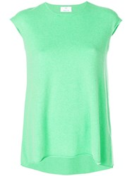 Allude Cap Sleeve Cashmere Jumper Green