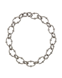 Armenta Sterling Silver And Diamond Twisted Link Necklace