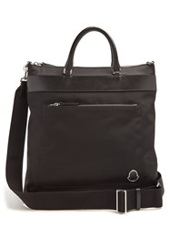 Moncler Nylon And Leather Trimmed Tote Black
