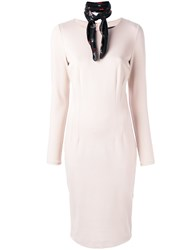 Class Roberto Cavalli Fitted Midi Dress Pink Purple