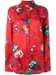 Department 5 Floral Print Shirt Red