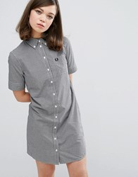 Fred Perry Authentic Gingham Shirt Dress Black