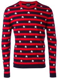 Just Cavalli Stars And Stripes Sweater Red