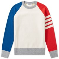 Thom Browne Fully Fashioned Cashmere Crew Knit Multi