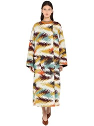 Missoni Wool Blend Jacquard Knit Coat Multicolor