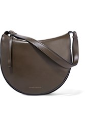 Victoria Beckham Swing Leather Shoulder Bag Army Green