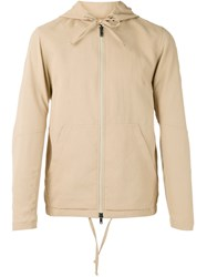 Theory Zip Hooded Jacket Men Cotton Polyester M Nude Neutrals