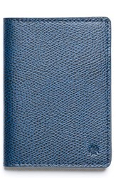 Hook Albert Men's Vertical Leather Wallet Blue Navy