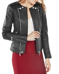 Bcbgmaxazria Leather Jacket Black