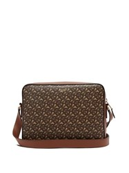 Burberry Knight Tb Monogram Coated Canvas Messenger Bag Brown