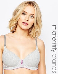 Hotmilk Forever Yours Grey Nursing Bra Grey
