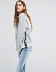 G Star High Neck Sweat With Logo Detail Grey