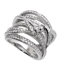 Stephen Webster Forget Me Knot Diamond Ring Female White Gold