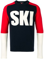Perfect Moment Ski Sweater Blue