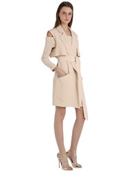 Siran Brushed Silk Sleeveless Trench Coat