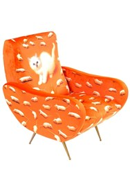 Seletti Kitten Printed Armchair Multicolor