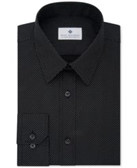 Ryan Seacrest Distinction Men's Evening Collection Slim Fit Non Iron Dress Shirt Only At Macy's Jet Black Dot Print