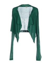 Hoss Intropia Wrap Cardigans Emerald Green