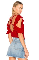 Fame And Partners The Mary Top Red