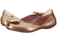 Vivienne Westwood Anglomania Melissa Queen Little Kid Big Kid Rose Gold Women's Flat Shoes