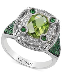 Le Vian Multi Stone And Diamond Accent Ring In 14K White Gold 2 1 3 Ct. T.W.
