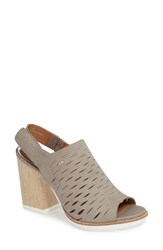 Linea Paolo Women's Gilly Slingback Sandal Grey Leather